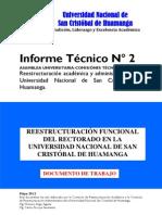 (P3) INFORME Nº 2 REESTRUCTURACIÓN DEL RECTORADO 2012 V.01