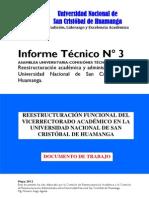 (P4) INFORME Nº 3 REESTRUCTURACIÓN DEL VRAC 2012 V1,O