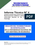 (P5) INFORME Nº 4 CREACION DEL VRIN 2012 V.02