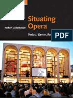 Situating Opera Period Genre Reception - Cambridge Studies in Opera