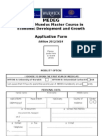 MEDEG Application Form