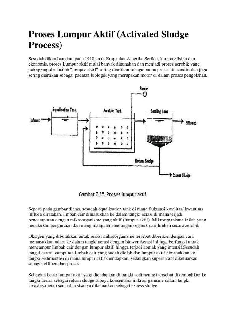 Cara Kerja Lumpur Aktif Dalam Mengolah Limbah Cair - Info ...