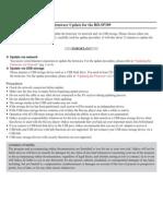 BD-SP309 Firmware Update Web