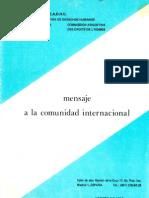 1980 - CADHU - Mensaje a La Comunidad Internacional