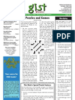 Gist Weekly Issue 6 - Puzzles and Games