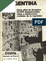 1981 - COSPA - Desaparicion de adolescentes y niños