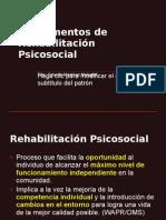 Fundamentos de Rehabilitación Psicosocial