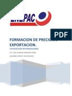 Trabajo Final YARELY Formacion de Precio de Exportacion