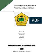 P.K as. Laktat (Kel. 3B)