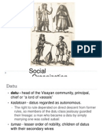 16thC Bisayas - 05 - Social Organization