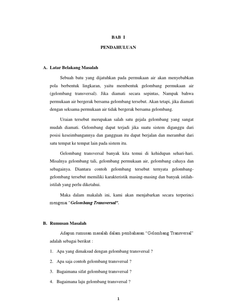 Berikut Ini Adalah Contoh Gelombang Transversal Kecuali Download