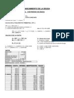 Cuadro Servicio Deuda Con Periodo de Gracia matematica financiera