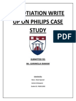 Negotiation Write Up on Philips Case Study