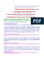 Bangalore_Delhi_Mumbai_Fast Track CFP Exam 5(Final Exam) Preparation Training Workshop_July12 Schedule