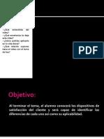DISPOSITIVOS DE SATISFACCIÓN DEL CLIENTE