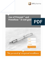 Use of Primojel and Primellose in Wet Granulation