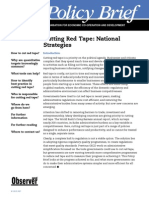 Cutting Red Tape National Strategies
