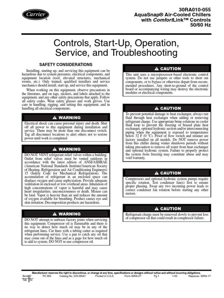 carrier aquasnap alarm codes