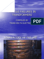 Failures IN TRANSFORMERS