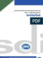 SDI - Roof Deck - ANSI