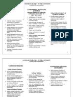 Task Force Summary Chart
