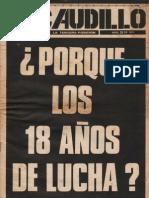 Revista El Caudillo. Buenos Aires. N° 24, Abril, 1974. Año II.