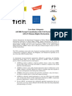 Less Than Adequate - InGO Statement on AICHR Formal Consultation With Civil Society on AHRD