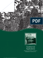 Applying Geothermal Comfort to Residential Applications