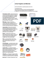 Electrical Material List Lighting Electrical Components