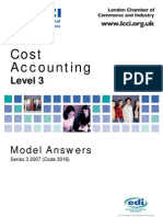 Cost Accounting/Series-3-2007(Code3016)