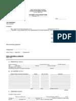 Academic Scholarship Form