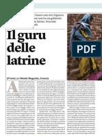 India, Il Guru Delle Latrine -Le Monde Magazinre-