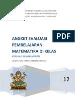 Angket Evaluasi Pembelajaran Matematika Di Kelas