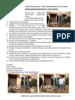 On-line Terafil Water Purifier- s.khuntia