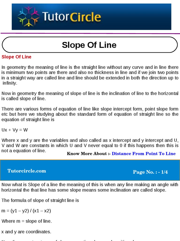 Slope of line slope line geometry falaconquin