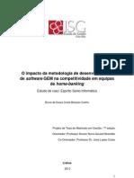 Projeto de Investigação GEM Metodologia de Desenvovlimento de Software