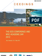Proceedings of the ICES Conference and Academic Day 2012