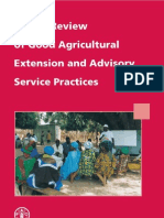 Global Review of Good Extension Advisory Service Practice