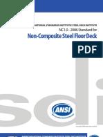 SDI-Non Composite Steel Deck