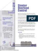 Stenter Overfeed Control Systems