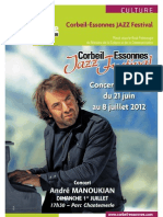 Plaquette Du Festival Du Jazz 2012