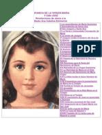 Infancia de La Virgen Maria Ana Catalina e