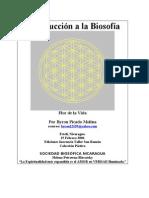 Libro Introducción  a la Biosofía