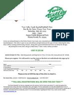 Twin Valley Little League Baseball Clinic
