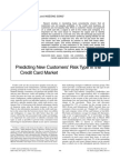 Predicting New Customers' Risk Type in the Credit Card Market