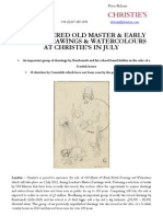 Old Master & Early British Drawings and Watercolours - Christie's King Street, 3 July 2012