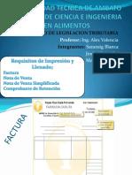 Requisitos de Impresión y llenado de venta, factura, ect.