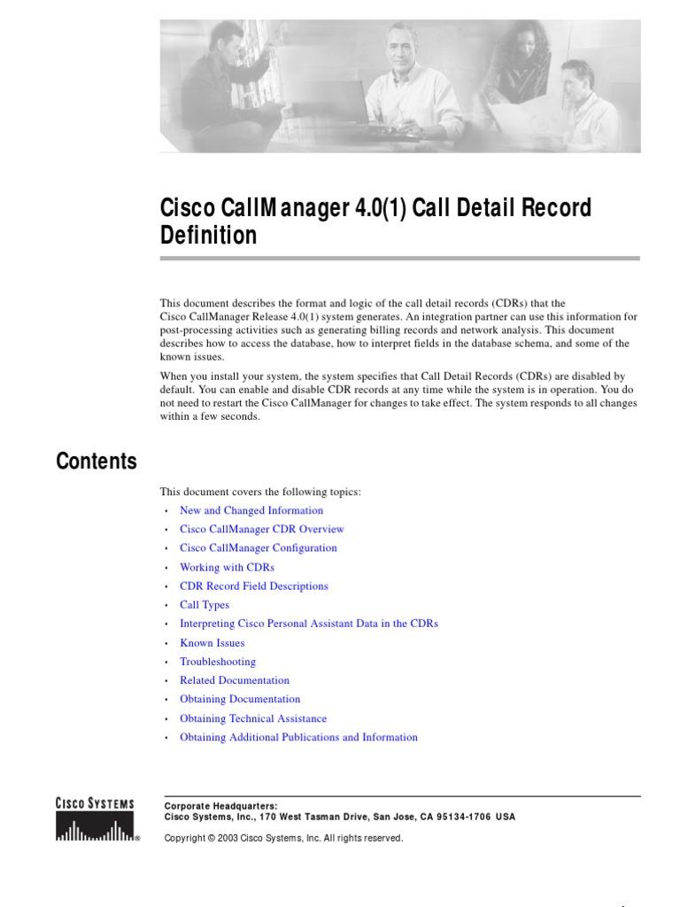 cdr cisco pdf   Databases   Microsoft Sql Server