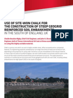Use of Site Won Chalk for Earthworks
