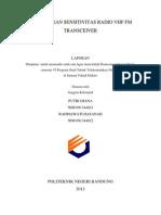 Pengukuran Sensitivitas Radio Vhf Fm Transceiver